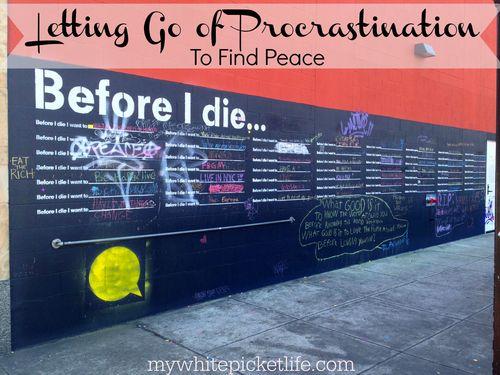 Procrastination peace